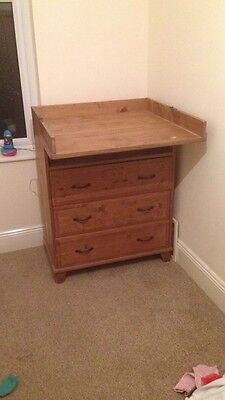 Wooden Baby Changing Unit With 3 Large Drawers