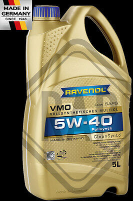 RAVENOL 5w40 C3 MB BMW LL GM VW APPROVED Engine oil 5L litres BASED on PAO