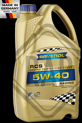 RAVENOL 5W40 Racing Competition Engine Oil BASED ON PAO & ESTER 5L Litre