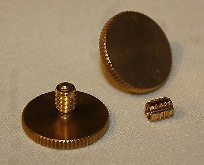 Concertina Parts - Set of  Knurled Brass 19mm Thumb Strap Screws