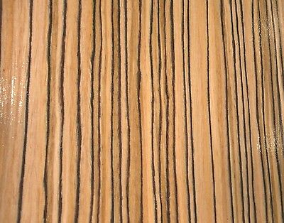 "Zebrawood African composite wood veneer 24"" x 48"" raw no backer 1/42"" thick"