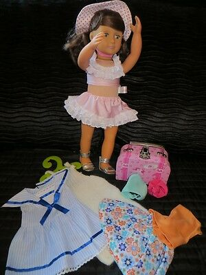 OUR GENERATION DOLL with FRILLI LILLI suitcase and clothes bundle