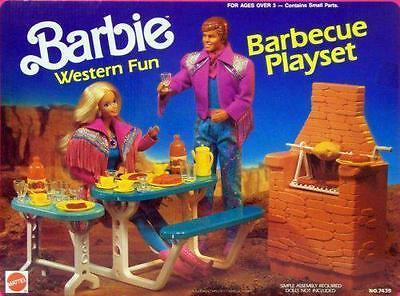 Barbie Western Fun Barbeque Playset Arco New Sealed VHTF!