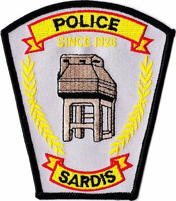 Sardis Police Patch Mississippi MS NEW!!