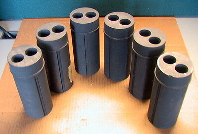 Lot of 6 GRAPHITE Pre-Machined CYLINDRICAL PIECES left overs
