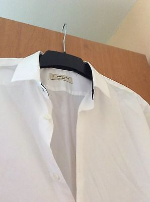 BURBERRY T L (42- 16 1/2) Chemise Homme blanche Neuf