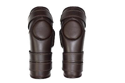 3 Strap Polo & Ridding Knee Guards made of Leather and Padded for extra comfort