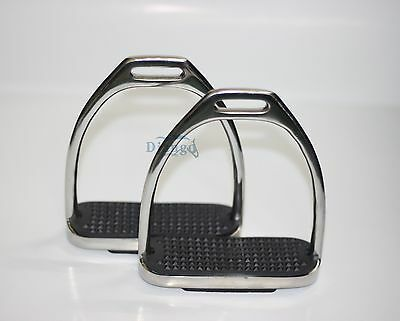 Plain Safety Stirrups Horse Riding Bendy Irons Stainless Steel