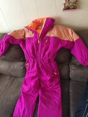 Profile Vintage Women's One Piece Ski Snowboard Snowmobile SnowSuit Size M