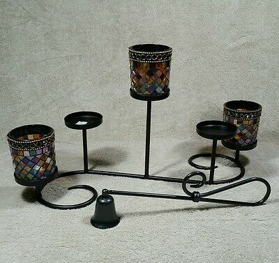 Partylite Global Fusion Votive Tealight Candle Holder Snuffer Antique Brass