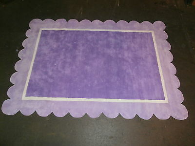 New Purple Area Rug 5'  W X 7' L Made Out Of 100% Cotton Pile