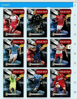 2016 Topps Kick Lot of 25 Inserts *Digital Cards*