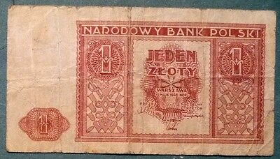 Poland 1  Zloty Note ,issued  15.05. 1946, P 123,