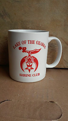 Lake of the Ozarks 2004 RAJAH Gene Oitker Shriners Red & White Coffee Cup
