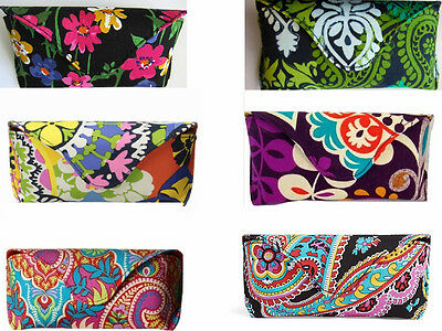 Nwt Vera Bradley Hard Flap Magnetic Snap Closure Glasses Case -Many Patterns