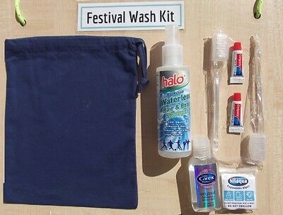 Festival Waterless Wash Kit, for Festivals, Camping, Outdoors
