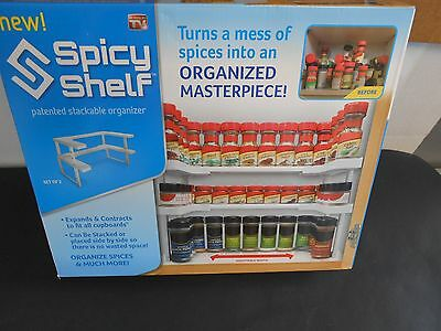 Spicy Shelf Stackable Organizer. Holds up to 64 spices.  NDE8
