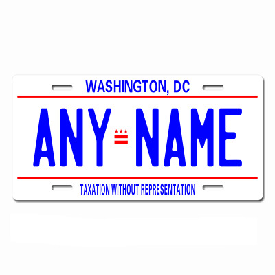 Personalized District of Columbia D.C. License Plate for Bikes, Cars, Trucks