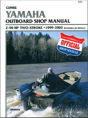 Clymer 1999-2002 Yamaha 2-90hp 2-Stroke Outboard Repair Service Shop Manual
