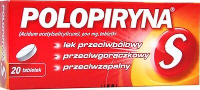 Polopiryna S 20 Tablets - Pain Relief cold flu fever grypa 20 tabletek 20 tabs