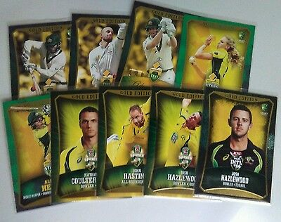2016/17 tap n play cricket gold single cards $2.20  each card.