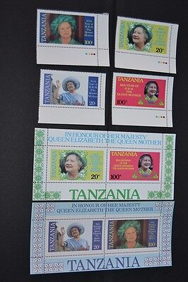 Timbres Tanzanie serie Réine d'anglettere Bloc et timbres Neuf