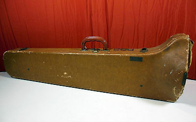 Vintage Lifton Ambassador Trombone Hard Case For Restoration. Ships Free !