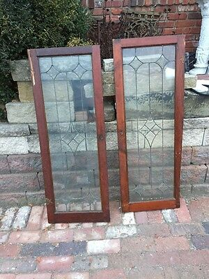 "Sg 1152 2 Available Price Separate Antique Leaded Beveled Window 19 7/8"" X45 7/"