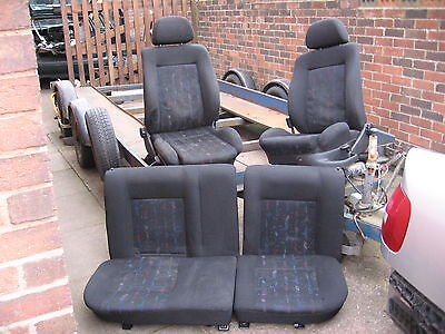 Vw Mk3 Golf Gti Interior Seats 5 Door Front + Rear Black Cloth  Collect Only