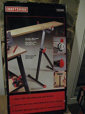 Craftsman Roller Support Stand  Adjustable With Edge Guides