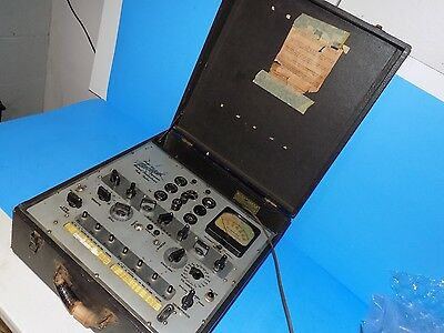 Vintage Hickok 532 Mutual Conductance Tube Tester Measures In Micromhos