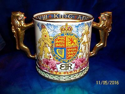 RARE 1937 PARAGON CORONATION LARGE  LOVING CUP KING EDWARD VIII #426/1000 Lion H
