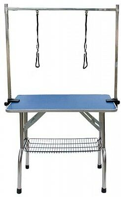 Dog Grooming Table Adjustable Portable Steel Frame W90 x H160cm Foldable New