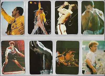 Lot 12 Pocket Calendar / Card  Music/  QUEEN 1991 Portugal COMPLETE SERIE