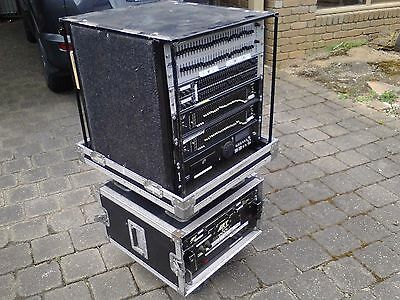 Amp rack and EQ in roadcase
