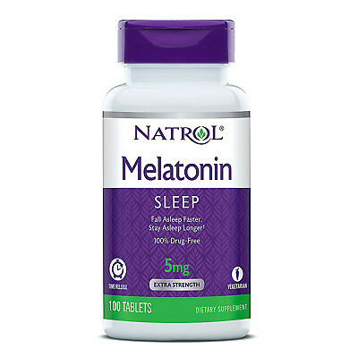 NATROL MELATONINA TIME RELEASE- 5 mg - 100 Compresse - rilascio prolungato