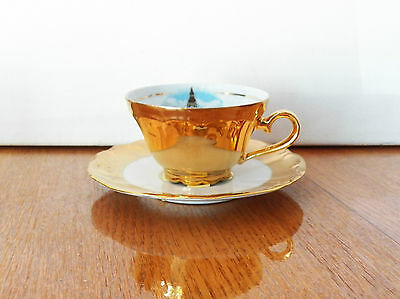 Fine Porcelain A Gift From London Bavaria Made In West Germany Tea Cup & Saucer