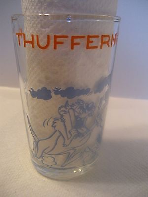 """1974 Warner Bros. Looney Tunes 4"""" Collector Glass Thufferin' Thuccotash!!"""