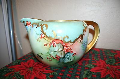 Beautiful Antique R.S Germany Ornate Porcelain Cider Pitcher
