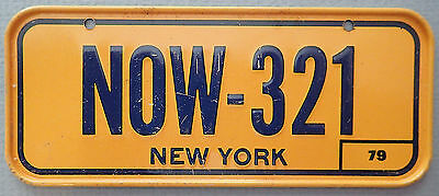Vintage 1979 New York  Mini License Plate Cereal Prize Premium Excellent Cond
