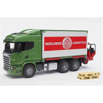 Bruder Camion Scania R-Series Portacontainer Con Muletto