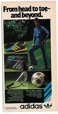 "1970's Adidas 'From Head To Toe & Beyond"" Collection Print Advertisement"
