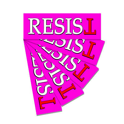 Resist PINK - Anti Trump - Bumper Sticker Decal Not My President - 5 Pack DND