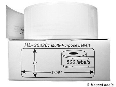 HouseLabels Houselabels 1 x 2-1/8 Inches Dymo-Compatible 30336 Multipurpose