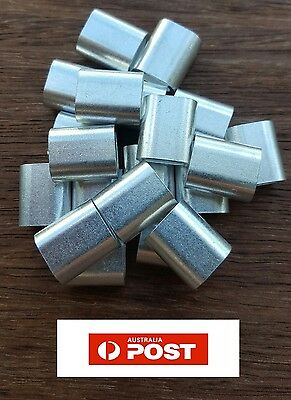 20 X M6 ALUMINIUM SWAGE FERRULE for 6mm STAINLESS WIRE CABLE ROPE CRIMP CRIMPING