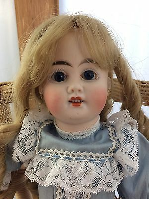 """Antique French Doll """"H K 2"""" Jumeau? 16"""" Bisque Head Composition Body"""