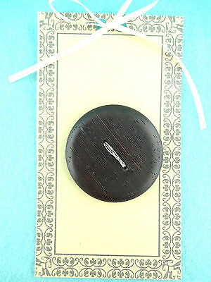 """2"""" - 2 hole Wood Textile Sewing Crafts Embellishment Collectible Button"""