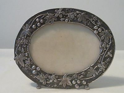 Antique Silverplate Picture frame signed MASJ87
