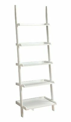 Home Office Convenience Concepts French Country Bookshelves Ladder White Color