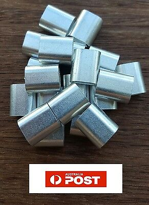 50 X M6 ALUMINIUM SWAGE FERRULE for 6mm STAINLESS WIRE CABLE ROPE CRIMP CRIMPING